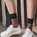 Checkers Fishnet Socks
