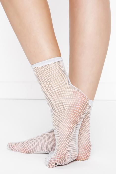 Shiny Fishnet Socks