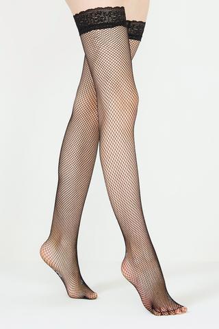 Ciorapi cu jartiere şi plasă subţire
