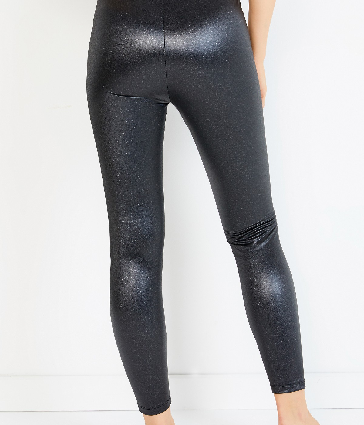 Leather Look Shiny Tights