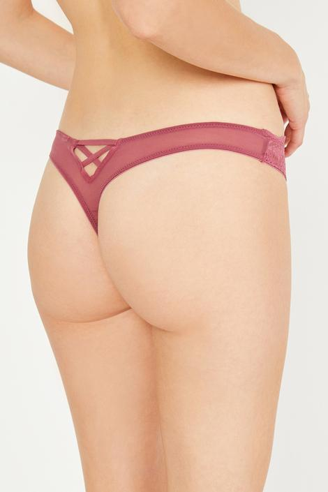 Shell Lace String Brief