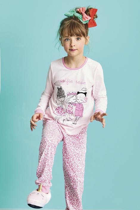 Girls Selfie Set 4 In 1 pyjama Set