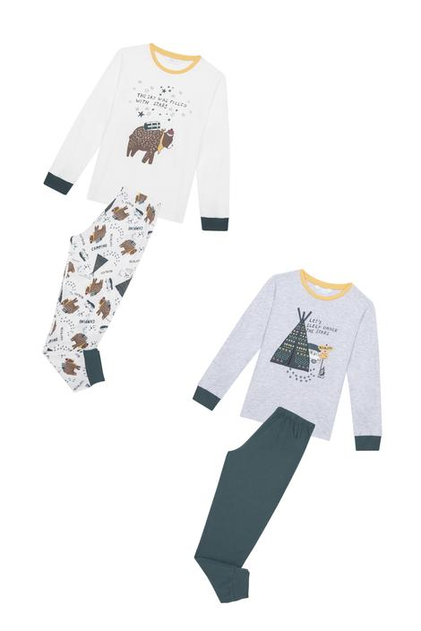 Boys Camping 4 In 1 Pyjama Set