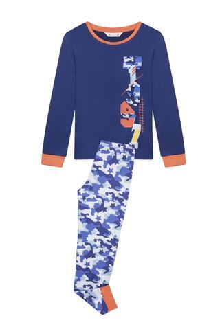 Male Kids Camouflage Thermal 2 In 1 pyjama Set