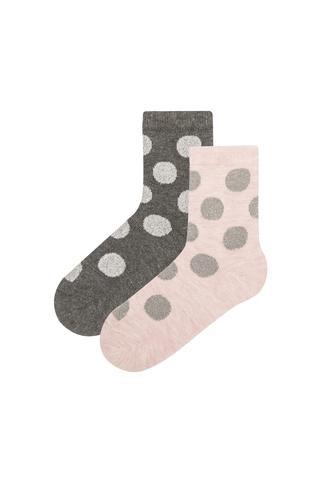 Girls Kids Socket 2 In 1 Socks
