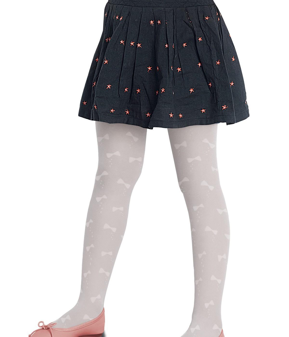 Ciorapi cu chilot cu funda din tul Pretty
