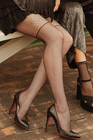 Ciorapi chilot cu plasă Chick