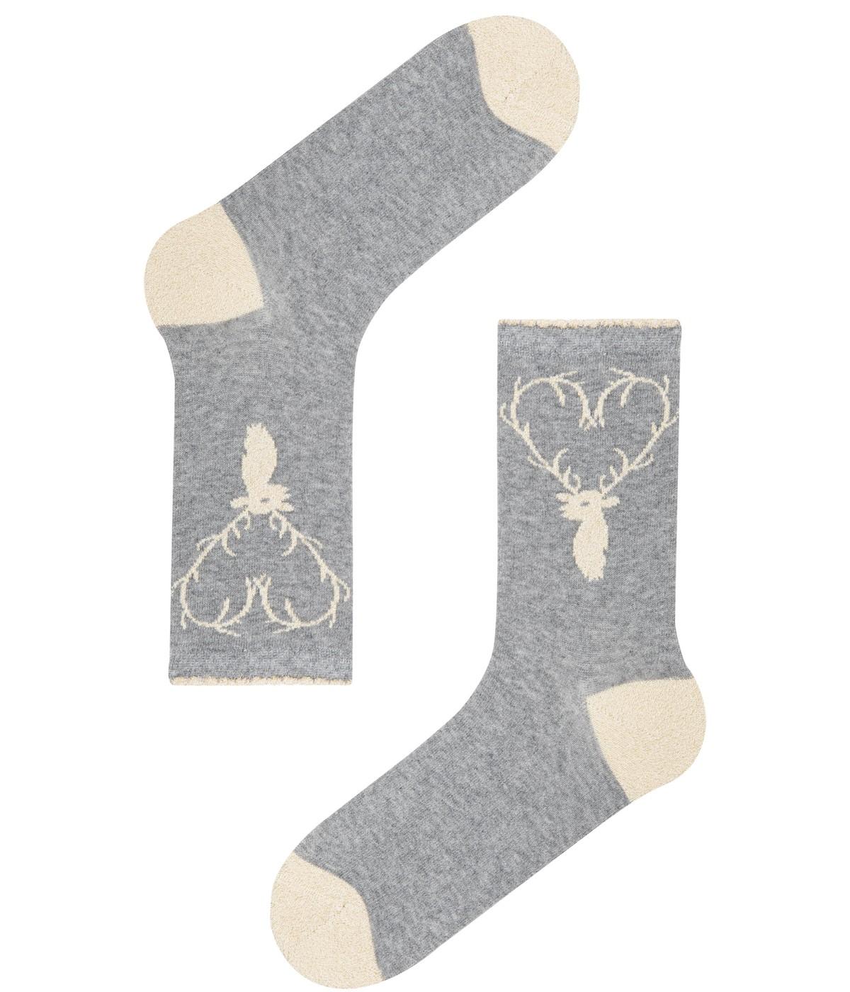 Deer Socks 2in1