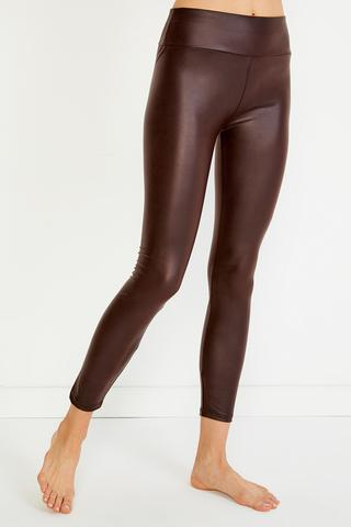 Leather Look Tights