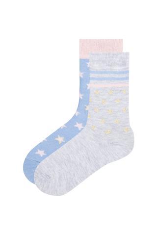 Girls Kids Socks 2 In 1