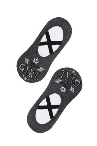 Girl Cross Motto Ballet Socks