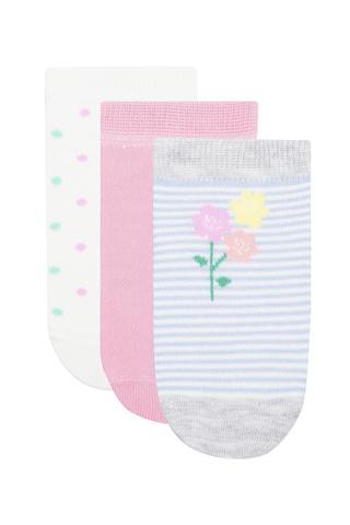 Set Șosete Scurte Fetițe Blossom 3 Buc.