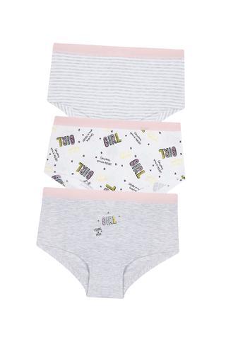 Teen Girl Stripe 3In1 Hipster Panties
