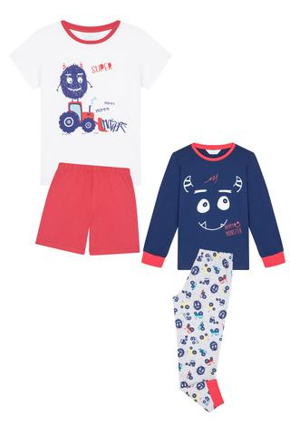 Set Pijama Băieței Monster 4 Buc.