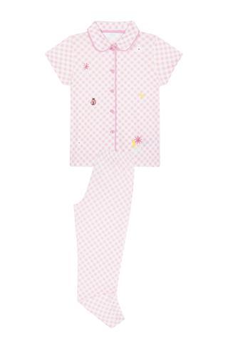Set Pijama Feti?e Gingham 2 Buc.