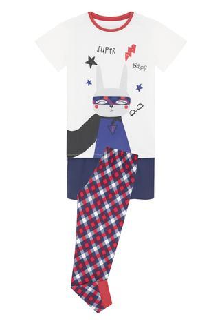 Set Pijama Băieței Super With Cape 2 Buc.