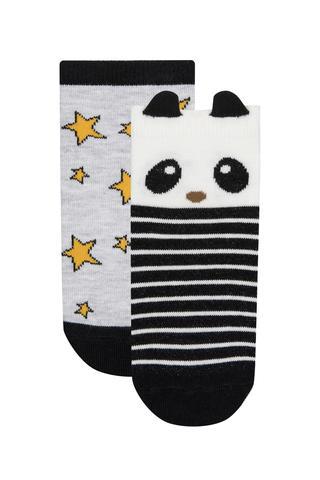Set Șosete Scurte Fetițe Panda 2 Buc.