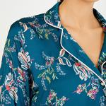 Petrol Flower Long Sleeve Shirt Set