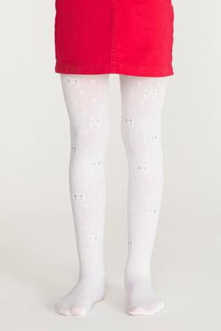 Pretty Dot Bow Tights