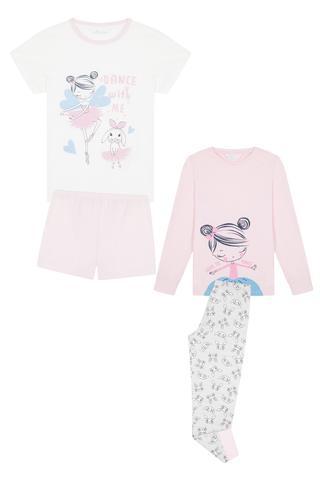 Set Pijama Fetițe Love To Dance 4 Buc.