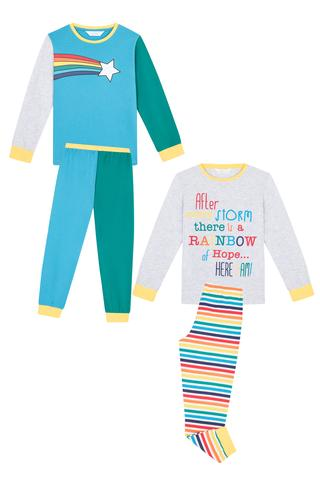 Set Pijama Băieței Rainbow 4 buc.