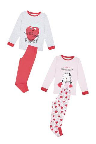 Set Pijama Fetițe Strawberry 4 Buc.