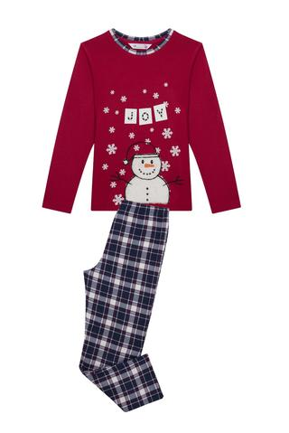 Pijama termică băieţi Snowman, 2 piese