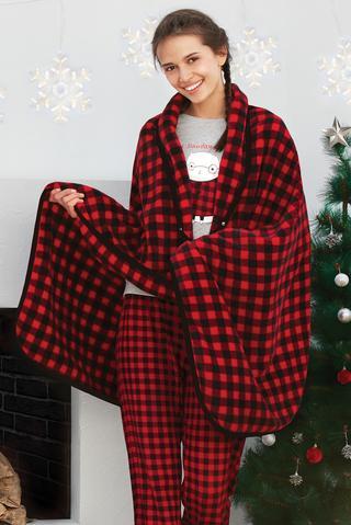 Pătură pelerină Gingham