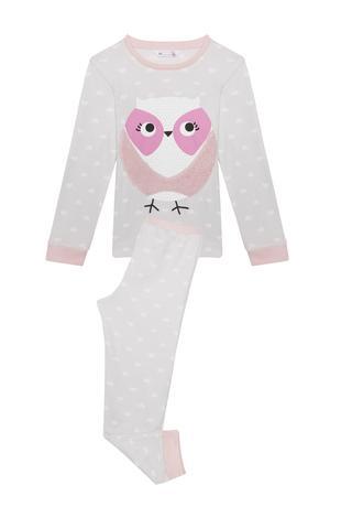 Pijama fete Owl termică, 2 piese