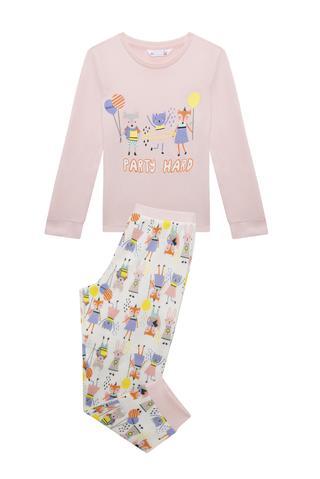 Pijama fete termică Party, 2 piese
