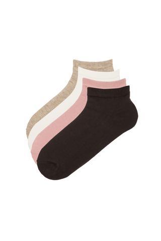 Ciorapi tip talpici Basic, 4 perechi