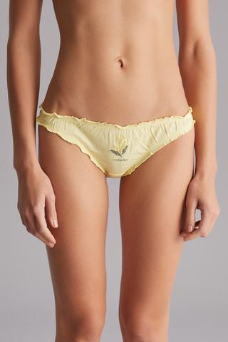 Cotton Frill Brazilian Panties