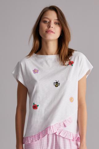 Gingham Daisy T-Shirt