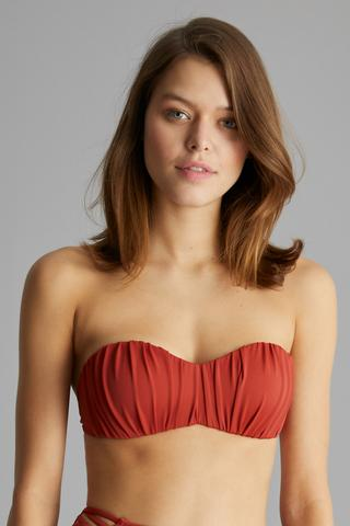 Sutien bikini Basic Shirred
