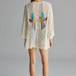Kimono Tropic Back Embroidery