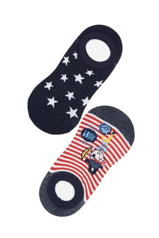 Boy Pirate 2In1 No Show Socks