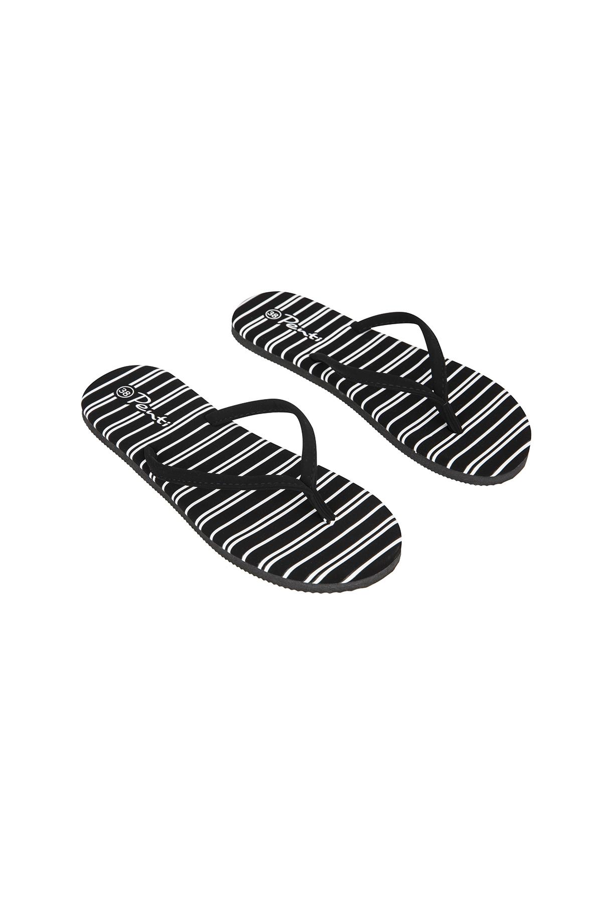 Papuci Stripe Suet