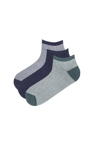 Men Stripe 3 in 1 Liner Socks