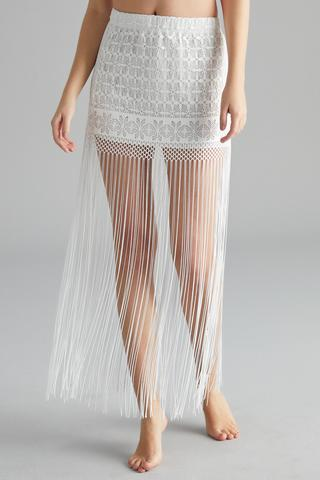 Lace Fringe Skirt