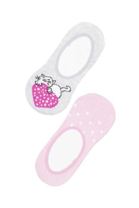 Girl Cat Love 2In1 Ballet Socks