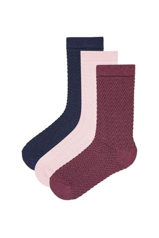 Girl Texture 3In1 Socks