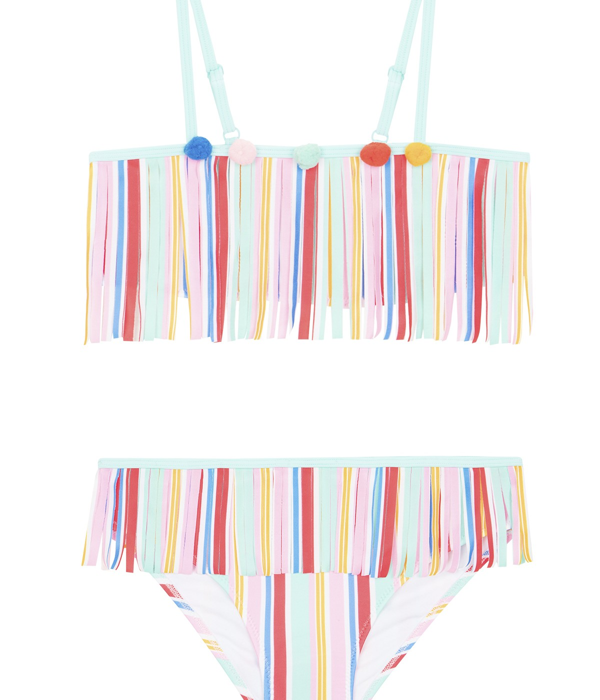 Girls Pompon Bikini Set
