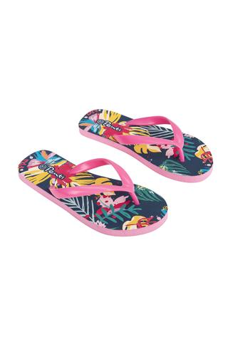 Flower Print Slipper
