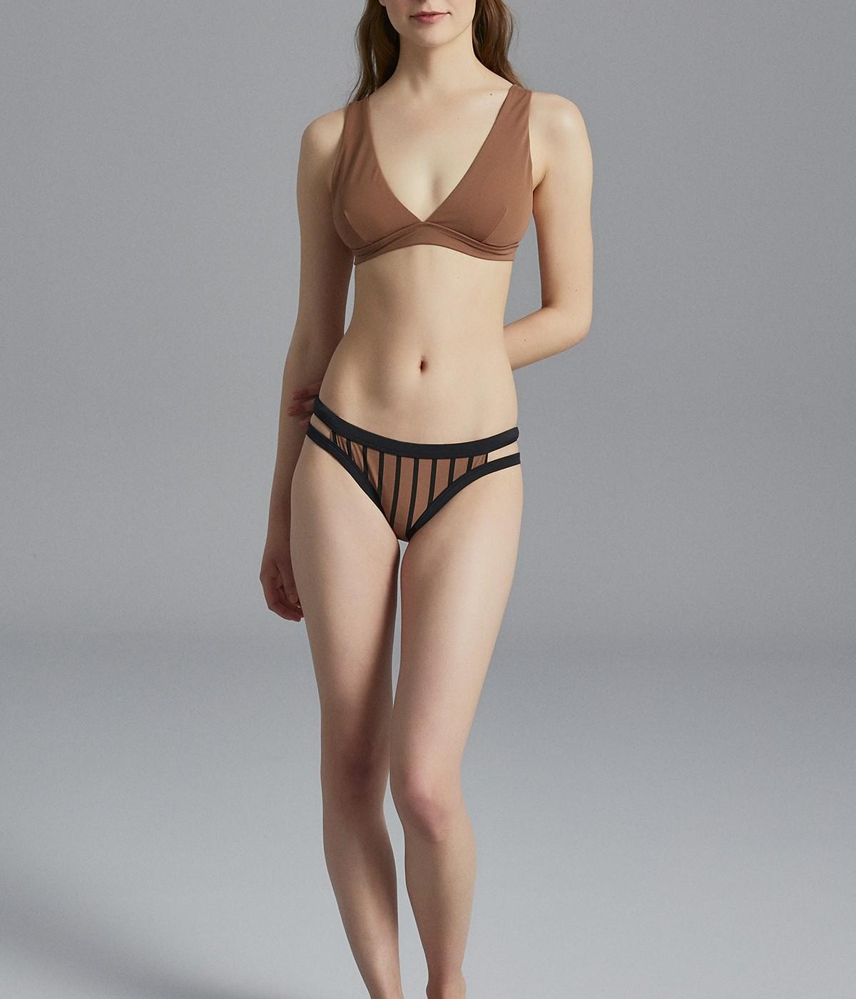 Bikini Superior cu Decolteu V Adânc Basic