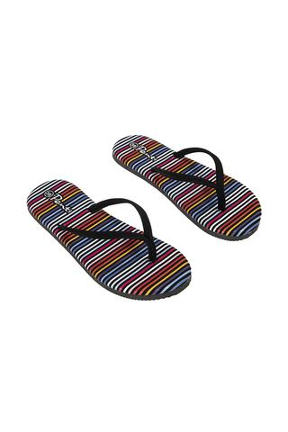 Multi Stripe Suet Slipper