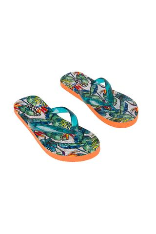 Leaves Print Slipper