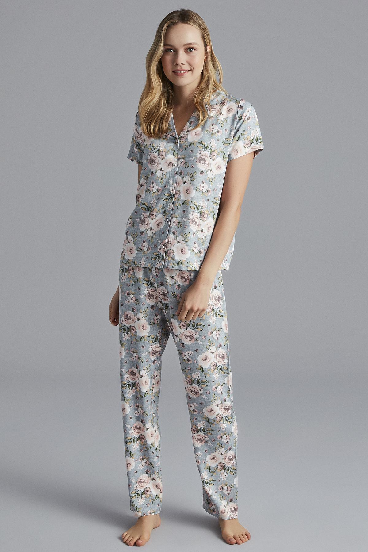 Set Pijama Blue Floral