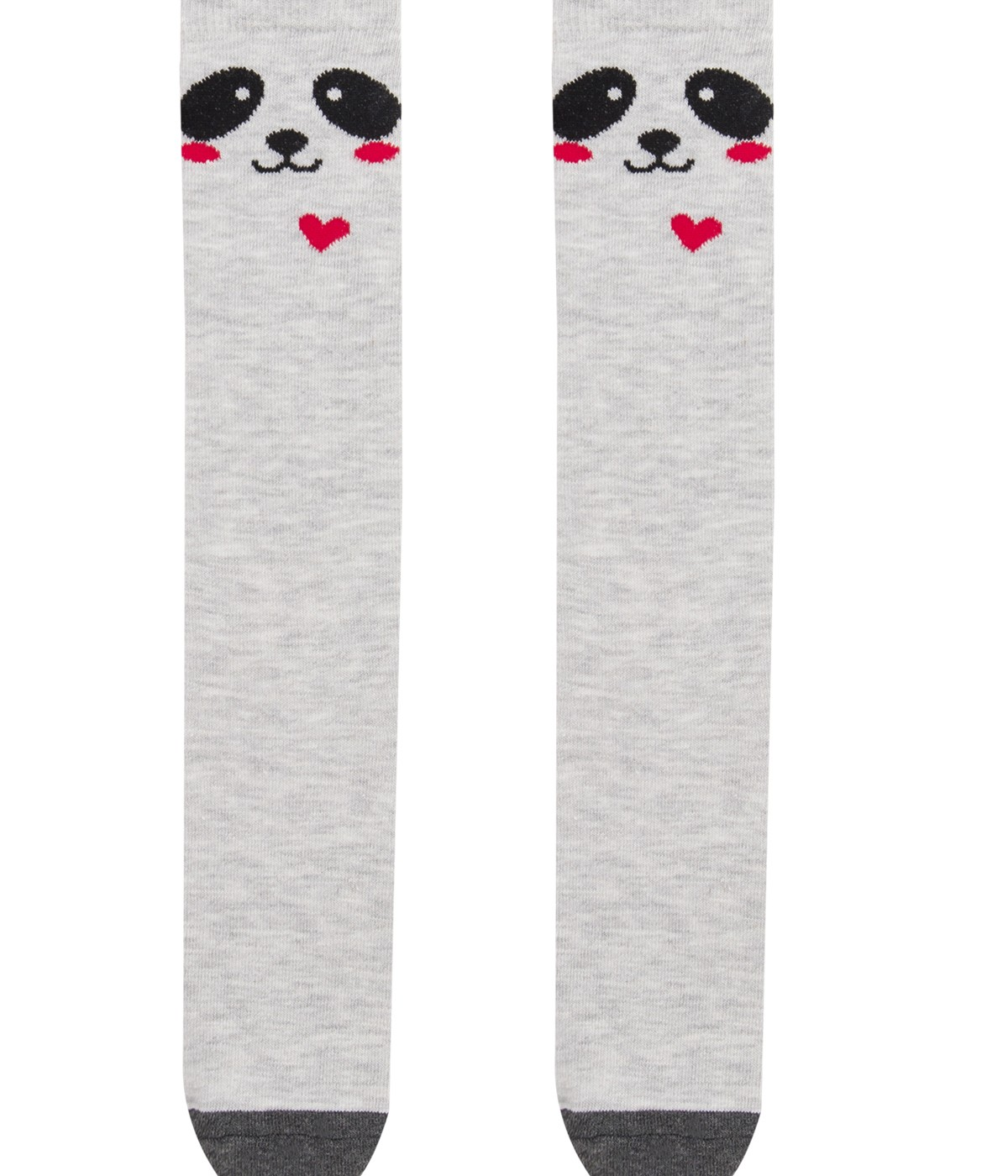 Girls Heartface Knee High Socks