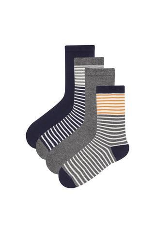 Boys Line 4 in 1 Socks
