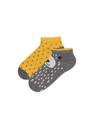 Boys Bearface 2 in 1 Liner Socks